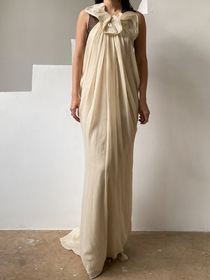 Silk Flowing Dress - S