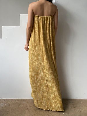 1980s Marigold Micro Pleated Skirt/Dress - OSFM