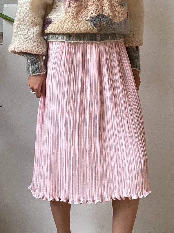 1980s Pink Micro Pleated Skirt - S/M