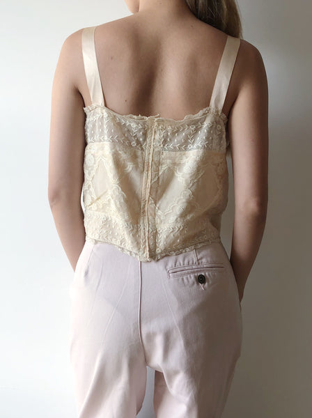 1920s Antique Lace Camisole - S