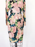 Vintage Dolman Sleeves Rayon Dress- XS/S