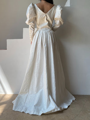 Vintage Laura Ashley Rare Mutton Sleeve Gown - S