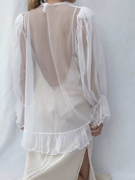 Vintage Sheer Nylon Top/Jacket - One Size