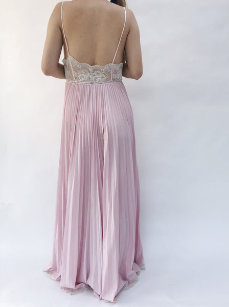 1950s/60s Lilac Rayon Slip Gown - XS/S