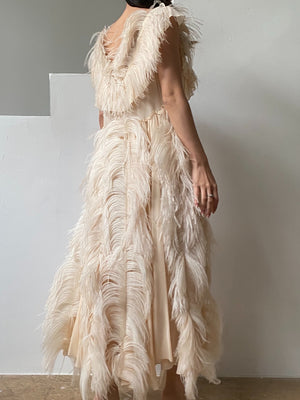 Sonia Rykiel Feather Dress - M