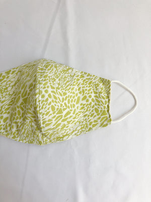 Chartreuse Animal Print/Geometric Face Mask
