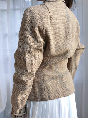 1940s Beige Tweed Jacket  - S/M