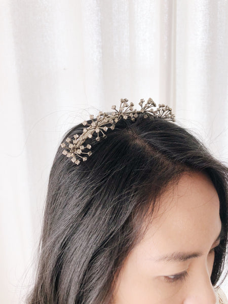 Antique Starburst Crystal Tiara