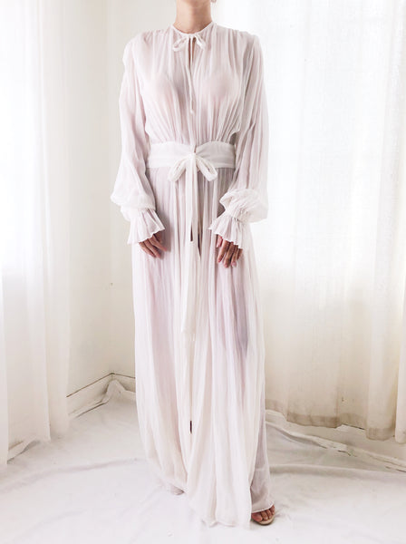 Silk Chiffon Dressing Gown - S