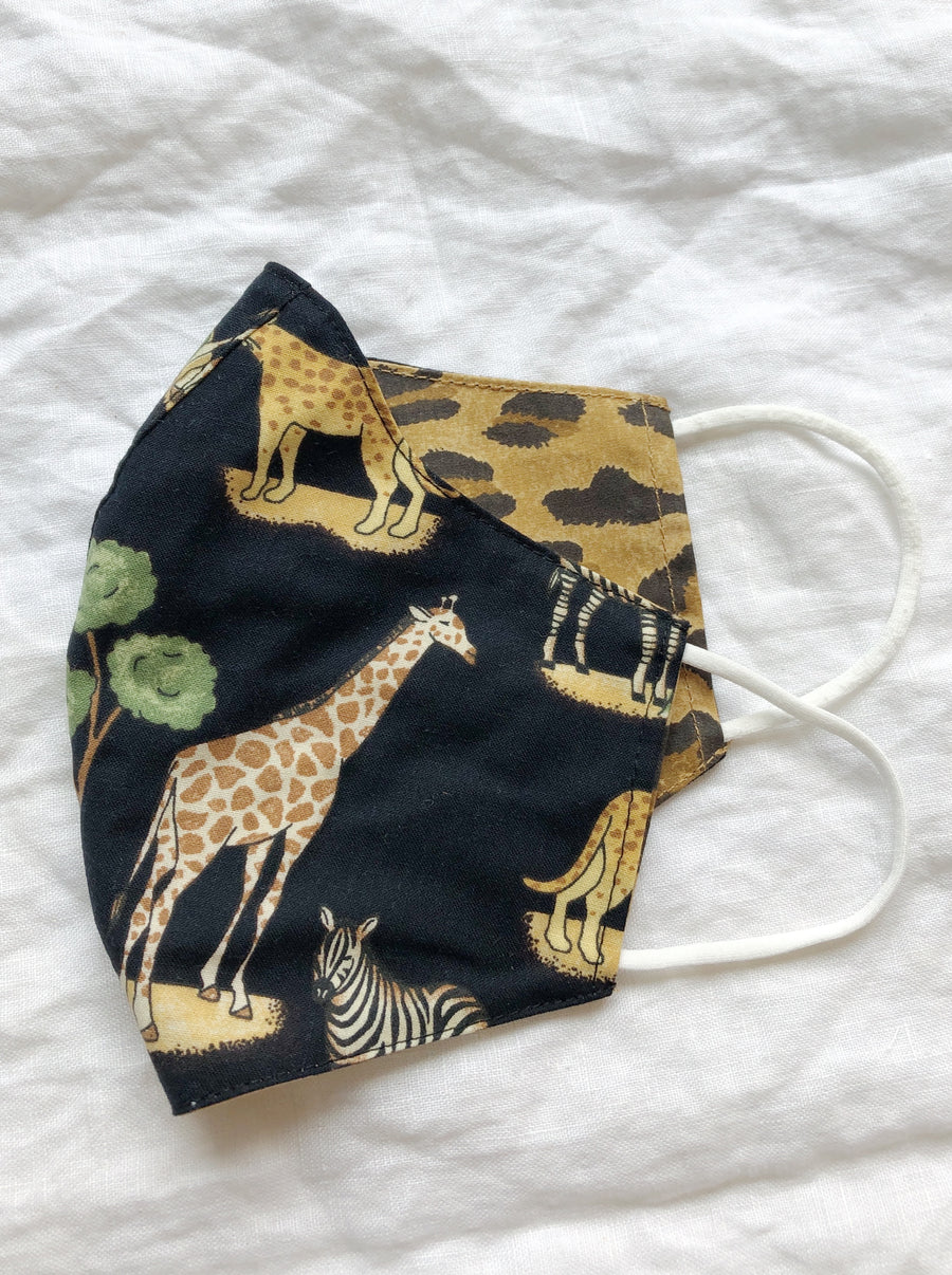 2-in-1 Reversible Safari Cotton Face Mask with Filter Slot