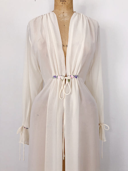 Short Chiffon Dressing Robe - M
