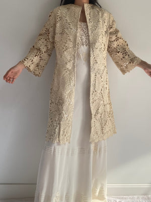 Vintage Cutout Embroidered Jacket - S/M