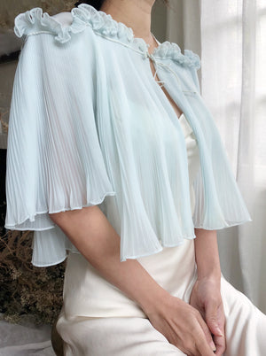 Vintage Light Blue Sheer Jacket - One Size