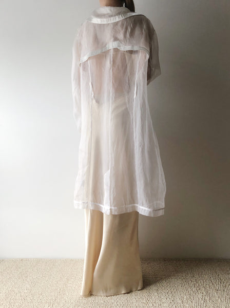 Vintage Sheer Silk Organza Jacket  - M