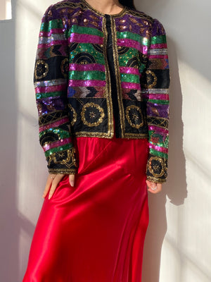 1980S Sequined Jacket - M