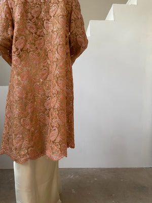 1969s Lurex Lace Jacket/Duster - M