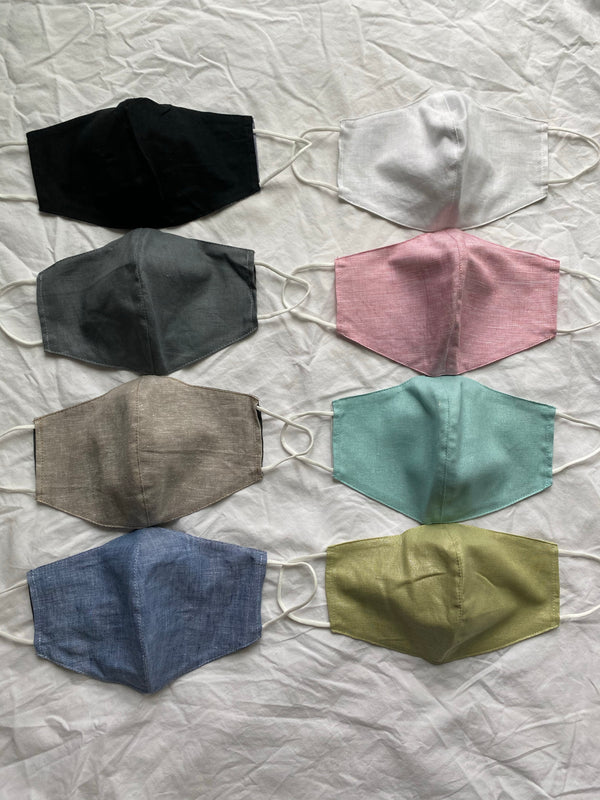 Premium Linen Face Mask With 2 Filters