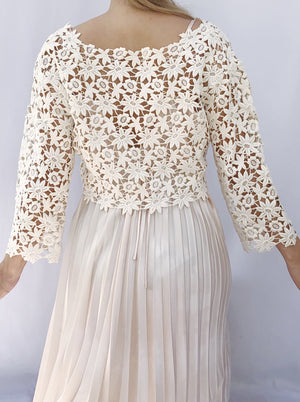1960s Cropped Embroidered Jacket - S