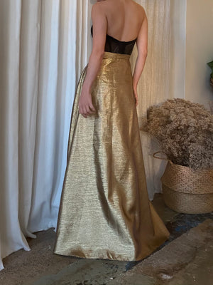Vintage Gold Lurex Skirt - M/6