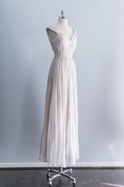Goddess Silk Pleated Gown - S/M