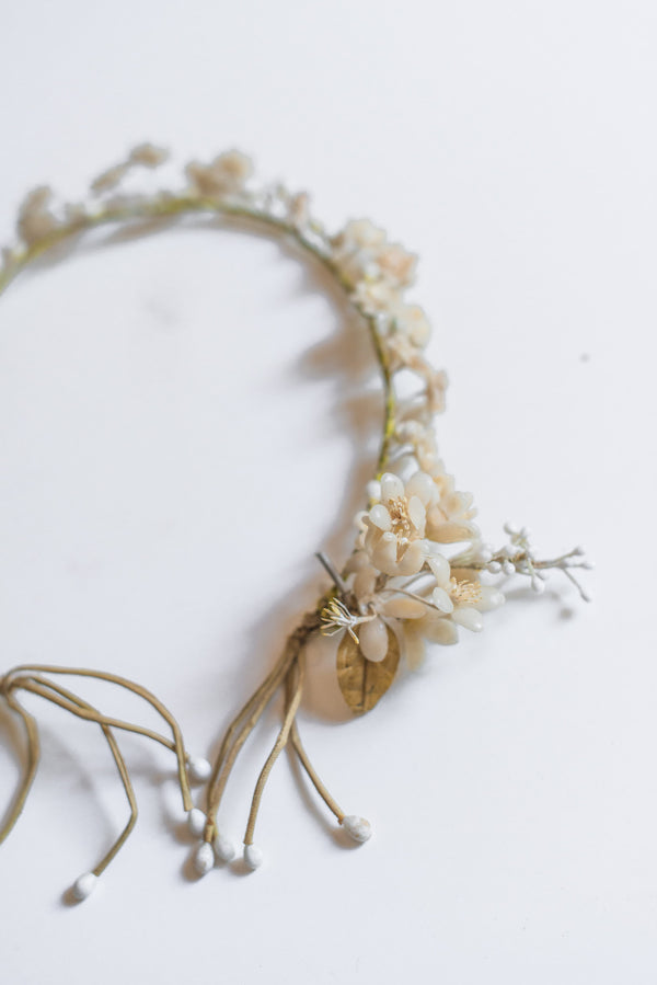 1920s Wax Crown with Dangling Sides