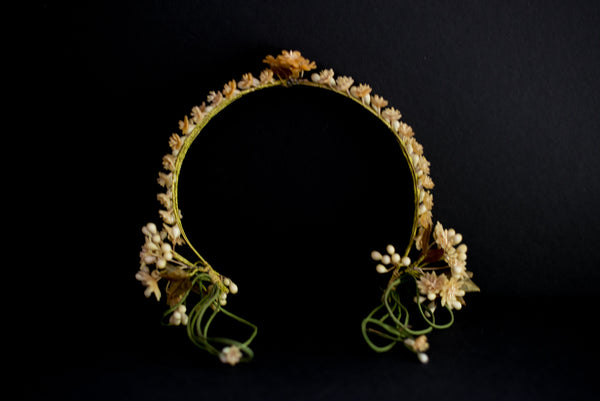 1920s Triple Band Crown with Dangling Sides