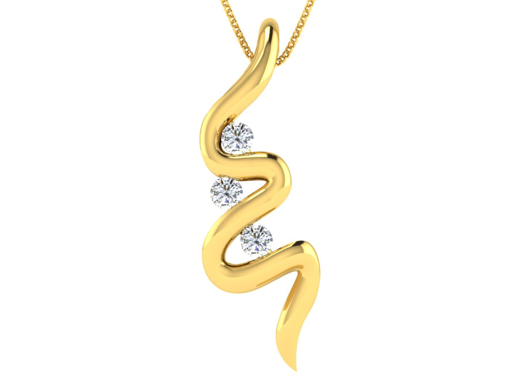 ZigZag Diamond Pendant