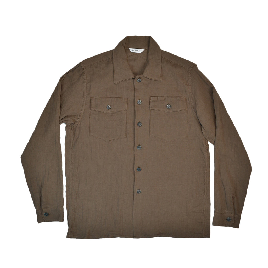 3sixteen Olive Gauze Fatigue Overshirt