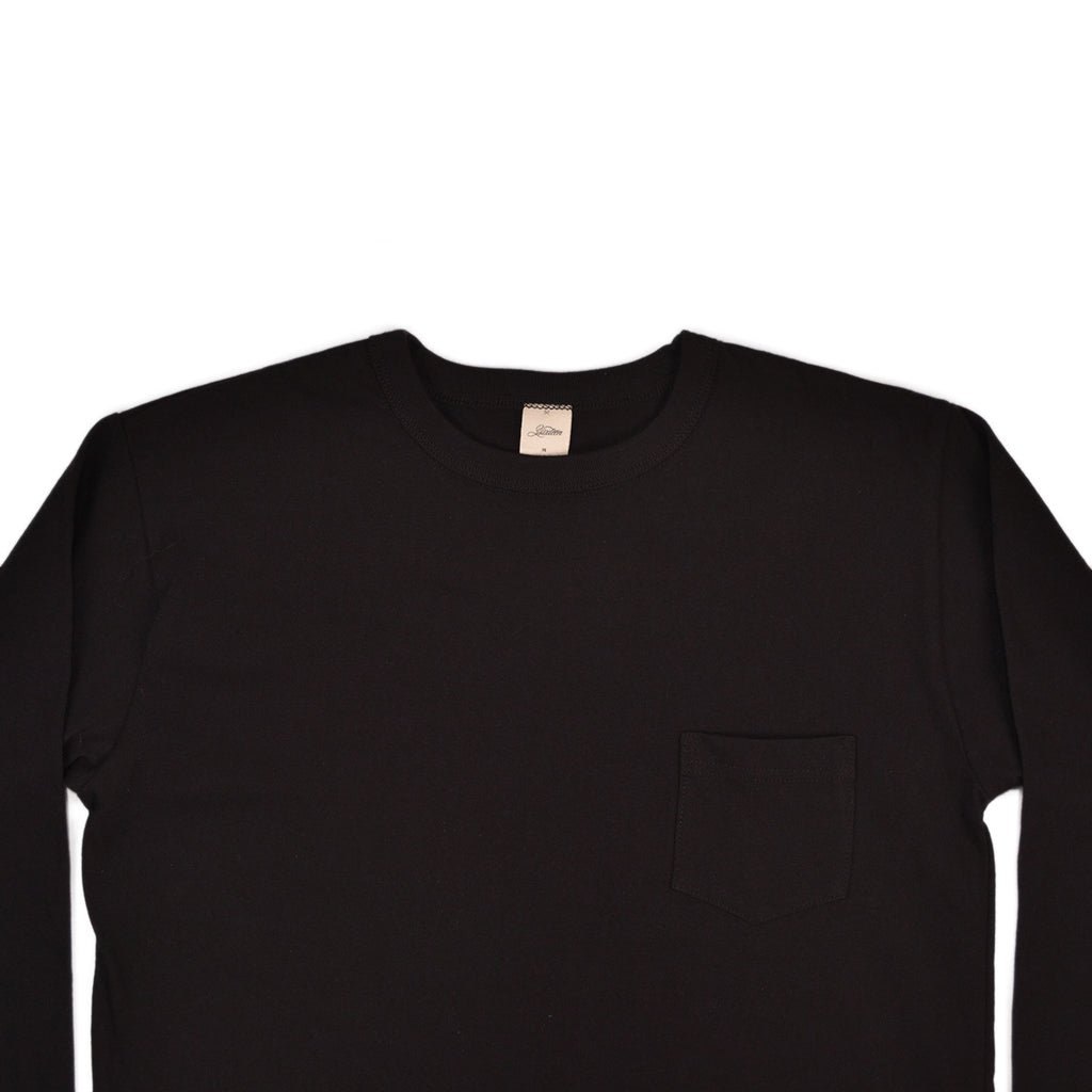 LONG SLEEVE POCKET TEE - BLACK