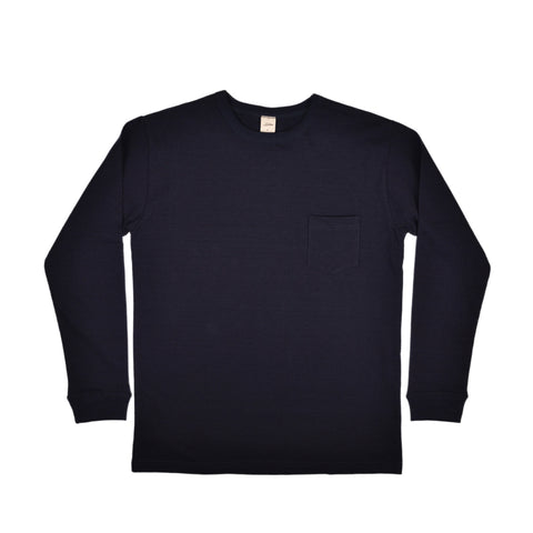 LONG SLEEVE POCKET TEE - INDIGO