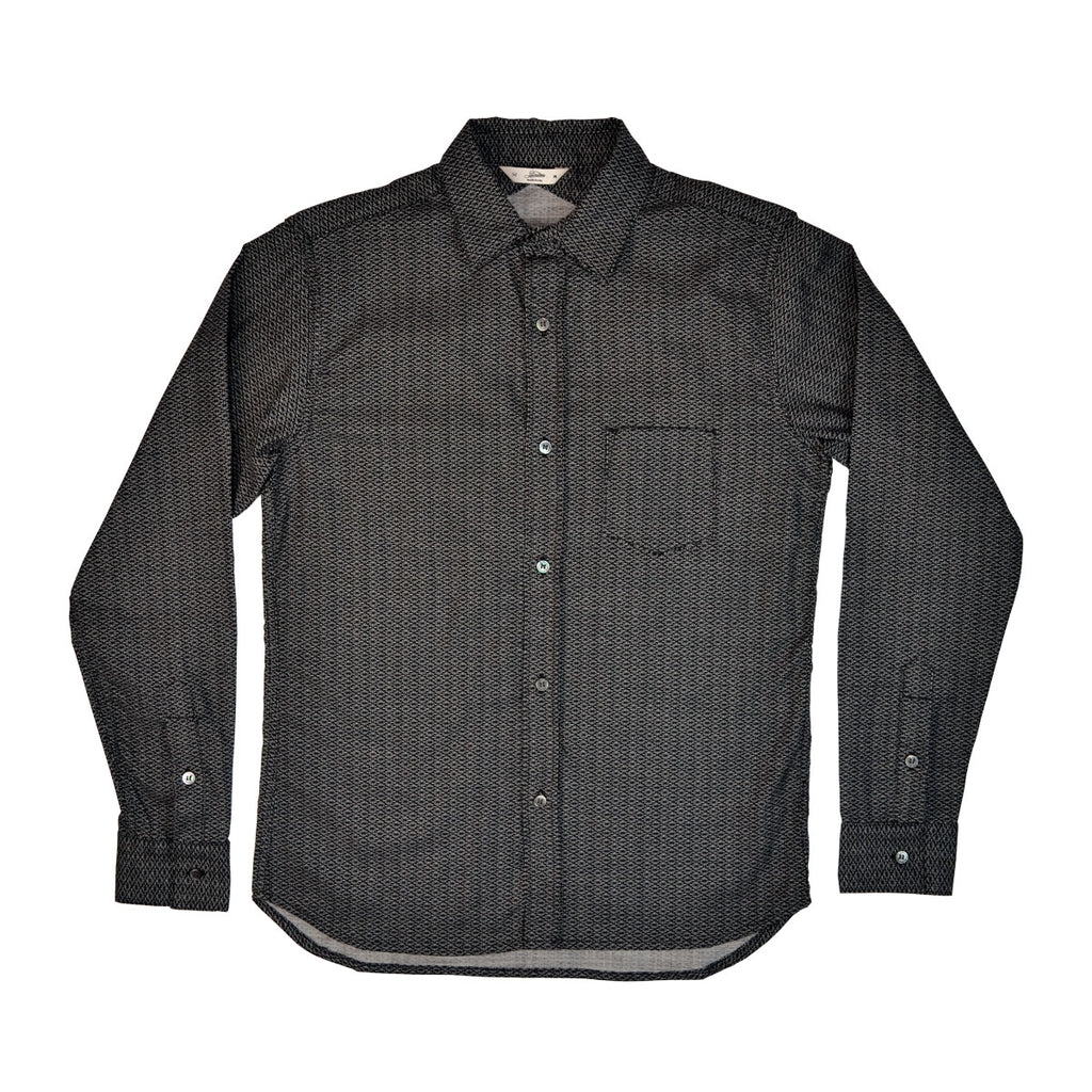 BUTTON DOWN L/S SHIRT - BLACK DIAMOND RAY