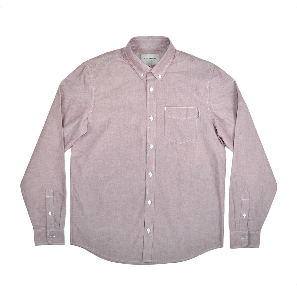 BUTTON DOWN L/S POCKET SHIRT - AMARONE