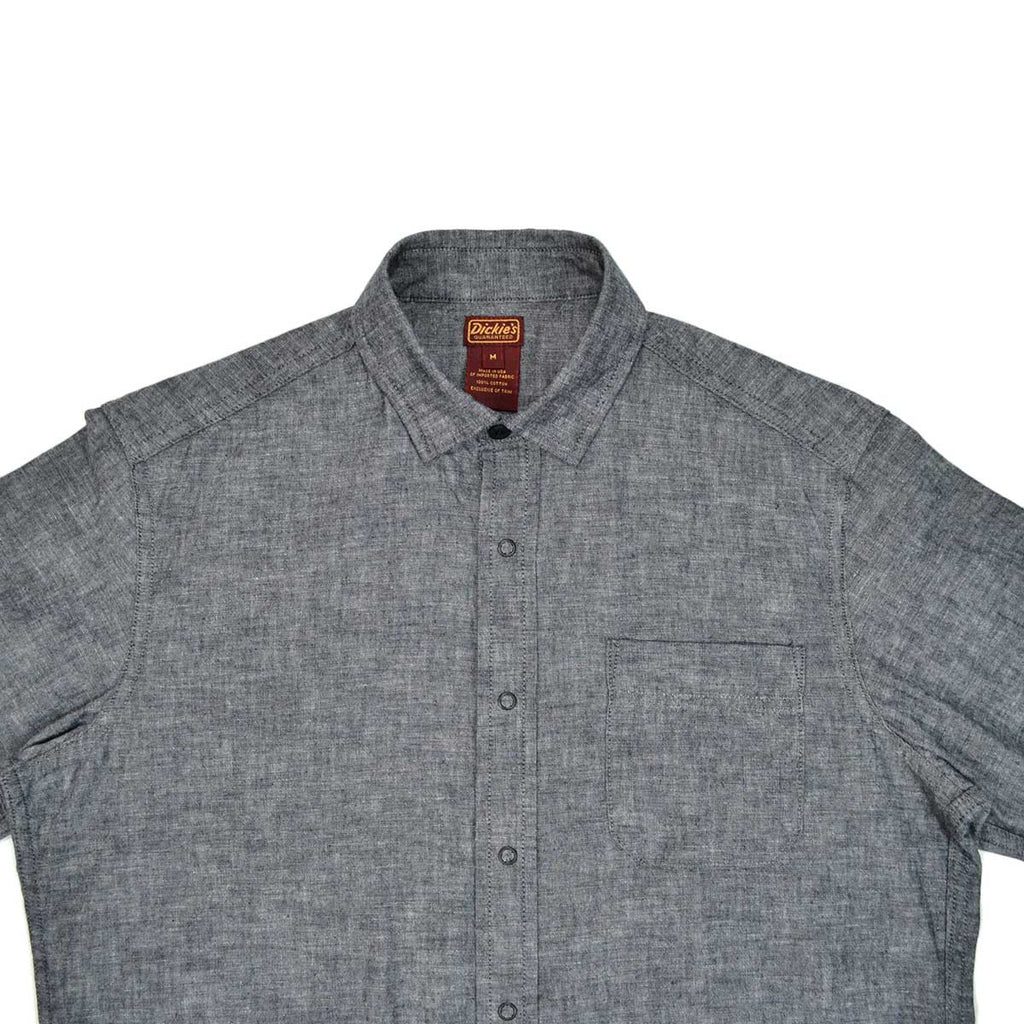 DICKIES X RESERVE SUPPLY COMPANY SNAP SHIRT - BLACK CHAMBRAY