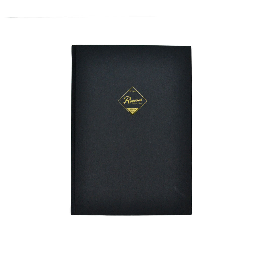 RESERVE SUPPLY COMPANY NOTEBOOK LARGE - BLACK
