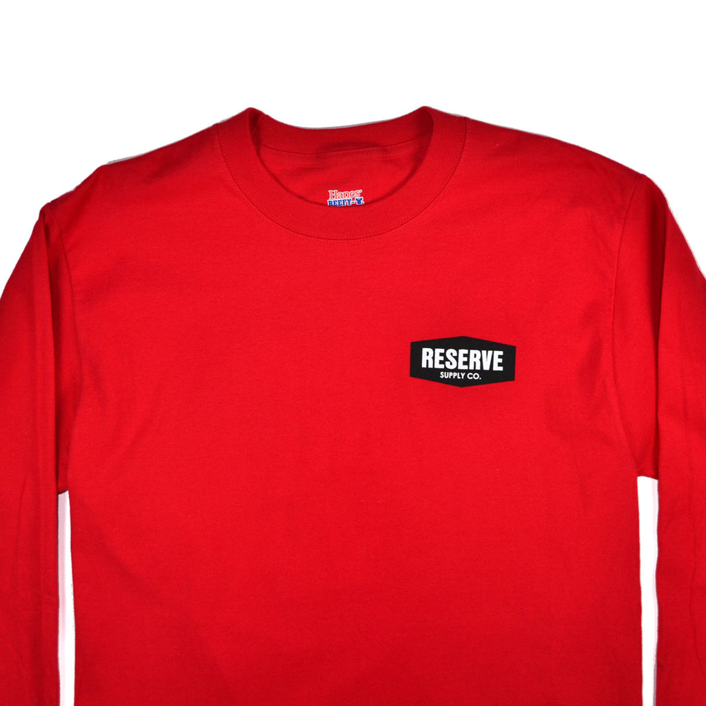 NINE LIVES L/S TEE - RED