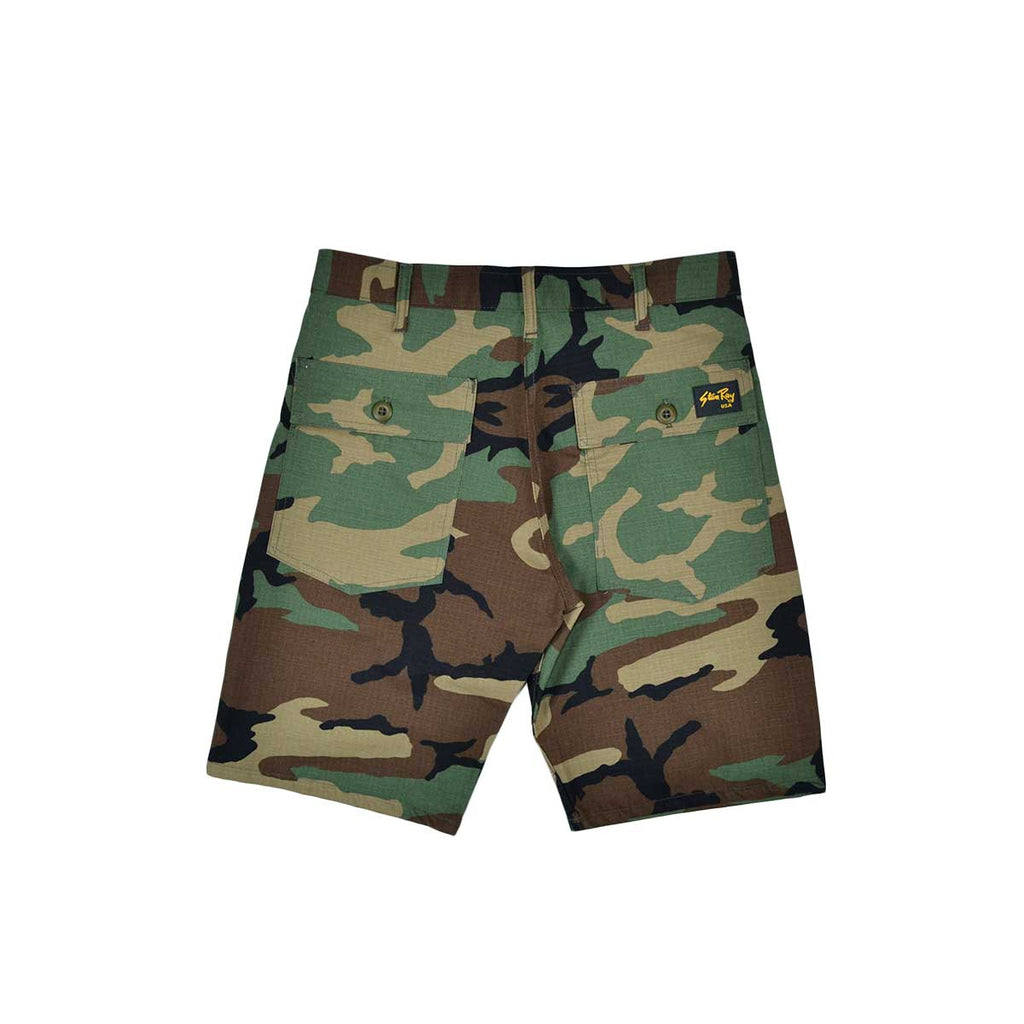 FATIGUE SHORT - WOODLAND CAMO RIPSTOP