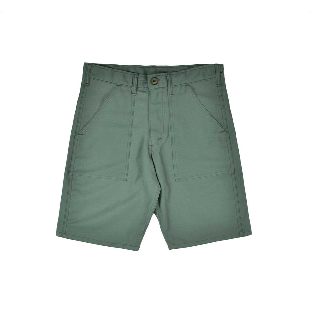 FATIGUE SHORT - OLIVE SATEEN