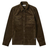 BARBOUR CORD OVERSHIRT - OLIVE