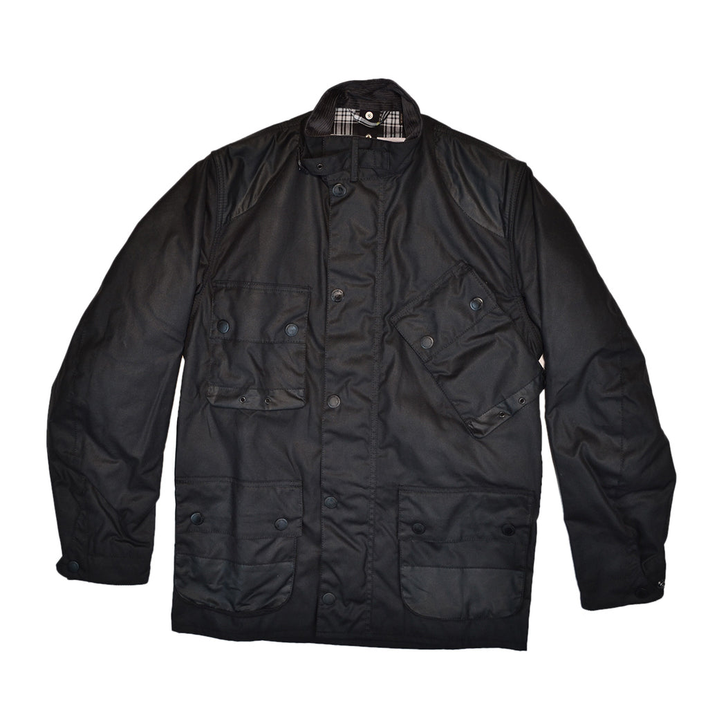 ICONS INTERNATIONAL WAX JACKET - BLACK