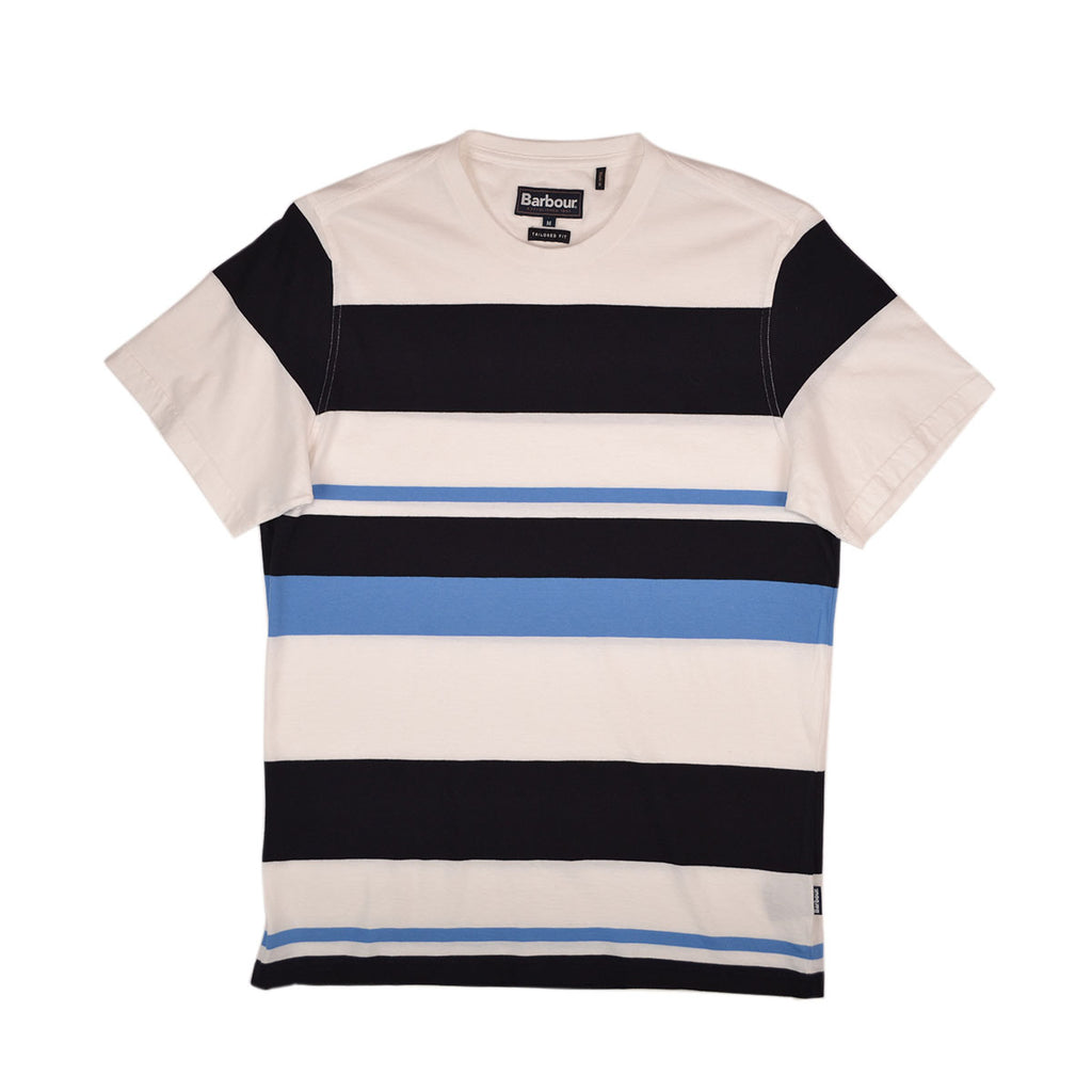 LONGITUDE S/S TEE - WHITE MULTI