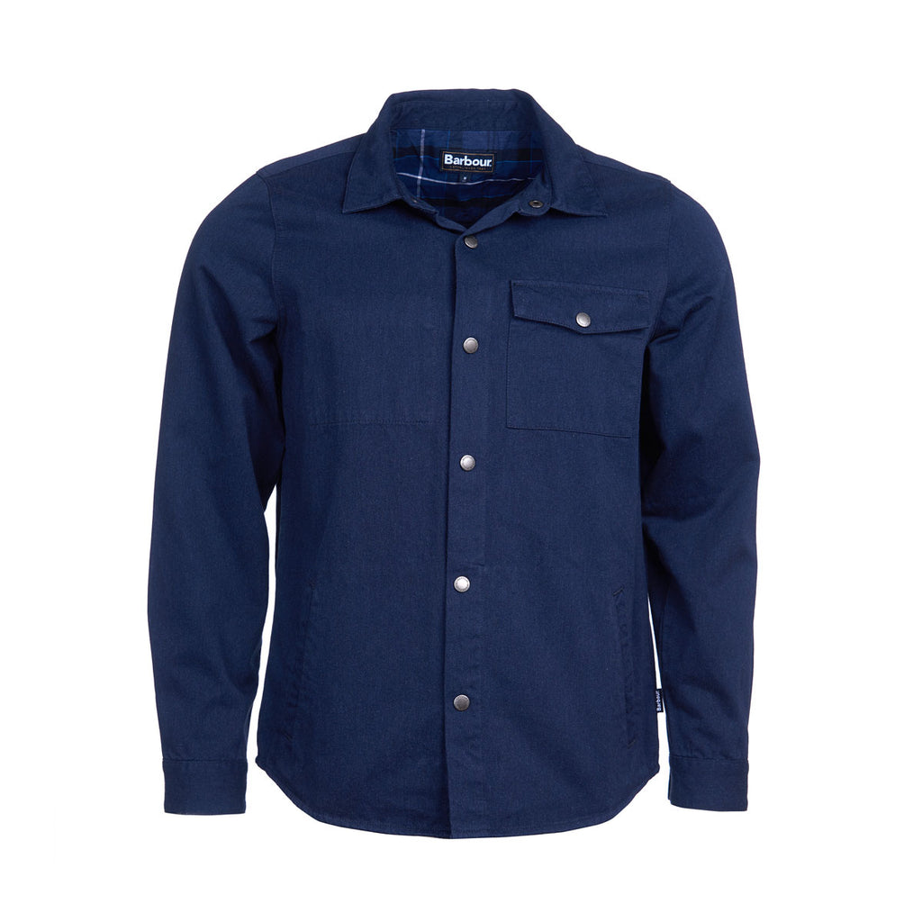 BARBOUR MORTAN OVERSHIRT INKY BLUE