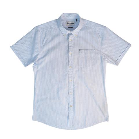 BARBOUR SEERSUCKER 5 S/S SHIRT - SKY
