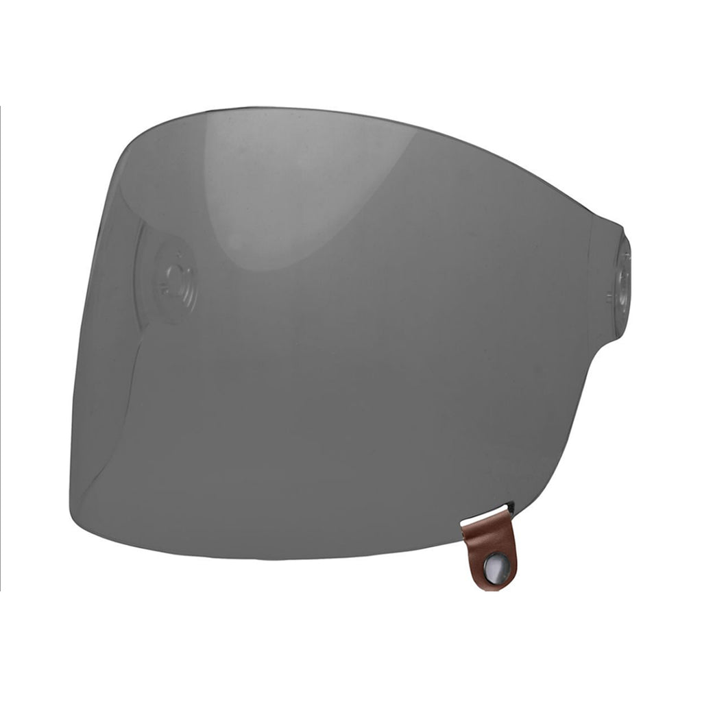 BULLITT FLAT SHIELD - DARK SMOKE/BROWN TAB