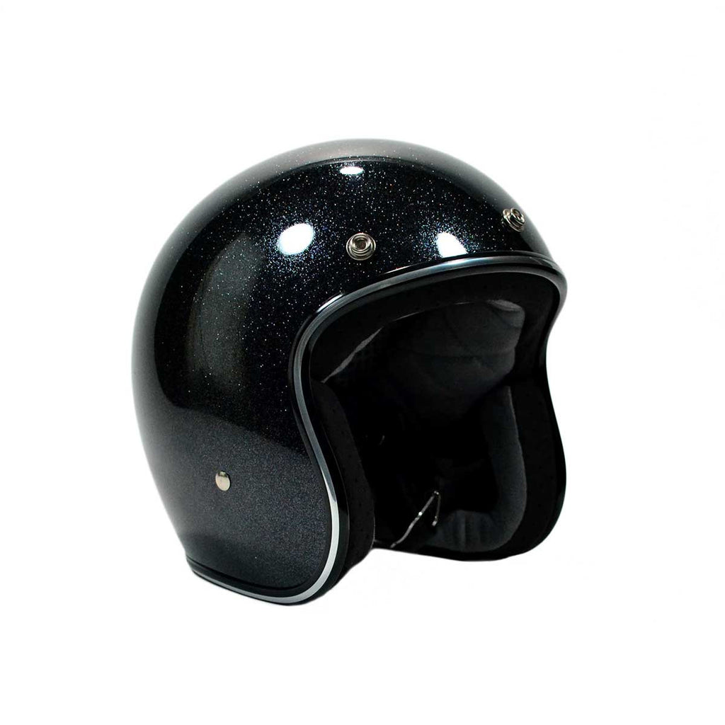 BILTWELL BONANZA HELMET - MIDNIGHT BLACK FLAKE
