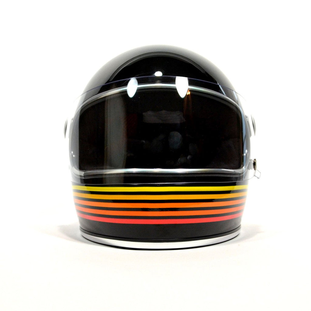 BILTWELL GRINGO S ECE FULL FACE HELMET - GLOSS BLACK SPECTRUM