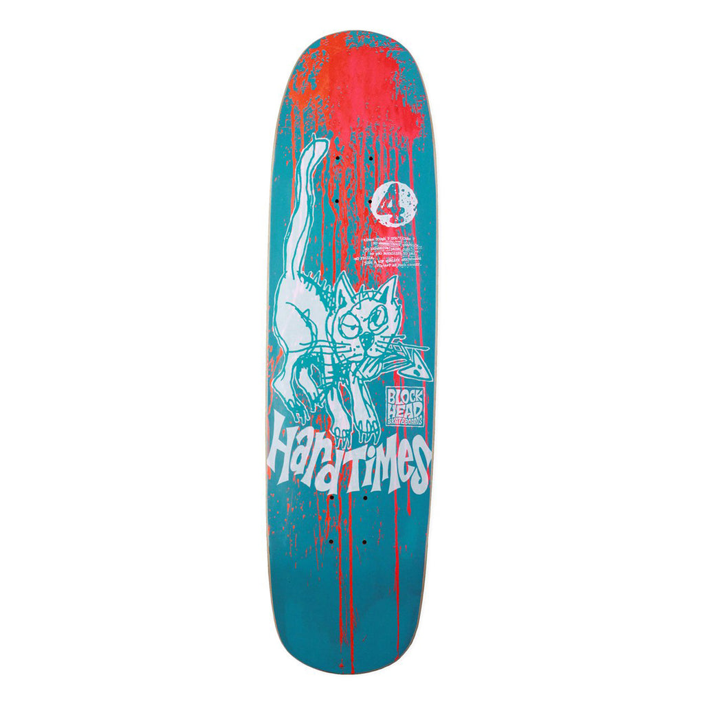 HARD TIMES 4 MODERN DECK - BLUE DAY-GLO ACID SPLATTER