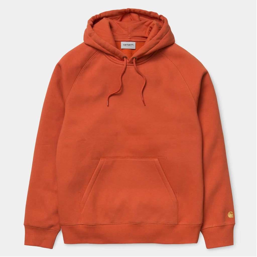 HOODED CHASE SWEATSHIRT - BRICK ORANGE