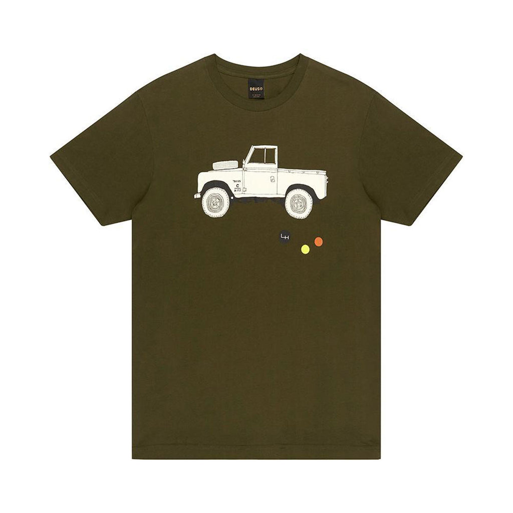DEUS EX MACHINA CARBY LANDIE TEE - FOREST GREEN