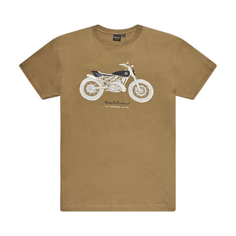 DEUS EX MACHINA PEDROSA TRACKER TEE - TOBACCO