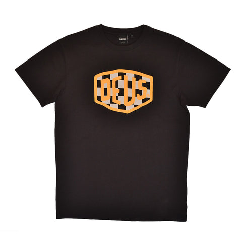 MOTO SHIELD TEE - BLACK